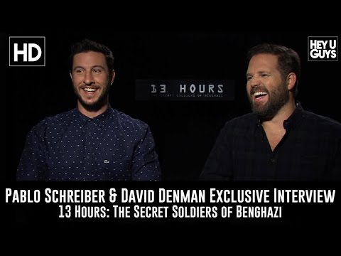 Pablo Schreiber & David Denman Exclusive  13 Hours: The Secret Soldiers of Benghazi