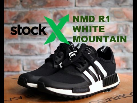 Stock x Adidas blanco Mountaineering NMD R1 unboxing Review YouTube