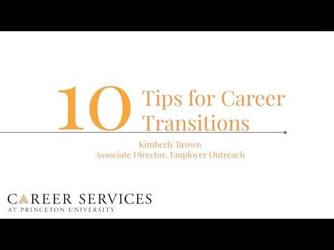 10 Tips for Career Transitions for Alumni