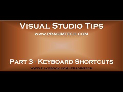 Part 3   Visual Studio Keyboard Shortcuts