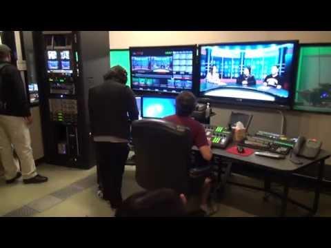 Inside the Chabot College TV studio.