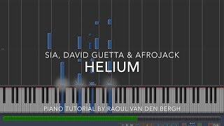 Sia, David Guetta & Afrojack - Helium (Piano Tutorial + Sheets)