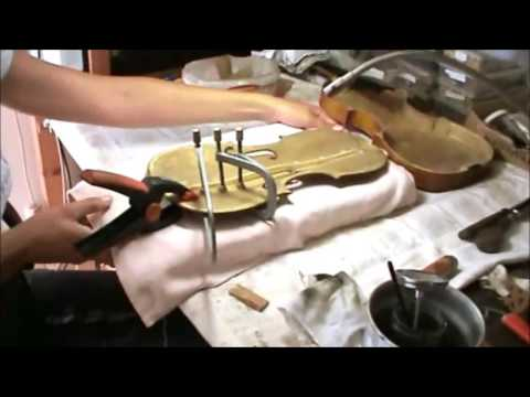 ♪♫#  Restoration of a 19th century violin J. Tichy 447