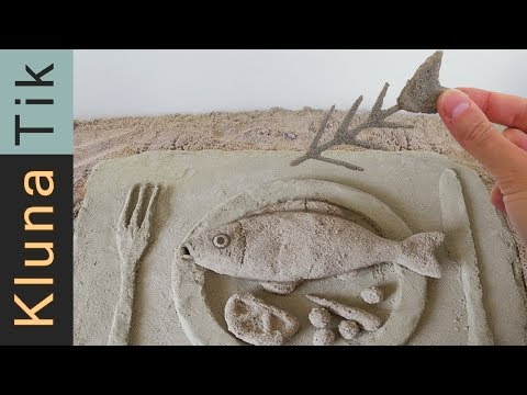 EATING SAND!!! Kluna Tik Dinner | ASMR eating sounds no talk comiendo arena 食べる砂 есть песок