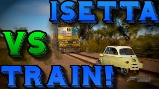 Forza Horizon 3: BMW ISETTA VS TRAIN! - (Smallest Car In The Game!)