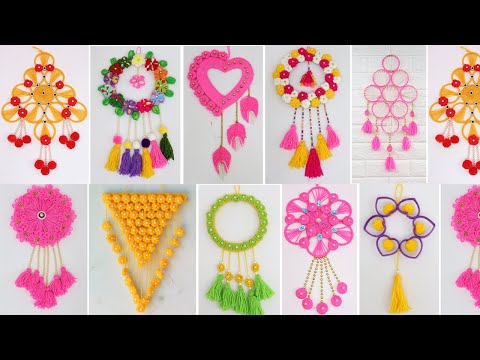 10 Best Collection Woolen craft wall hanging   Wall decoration ideas