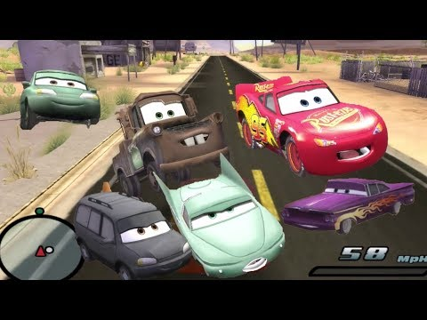 Disney Pixars Cars Movie Game - Crash Mcqueen 89 - Mater on Main Street |