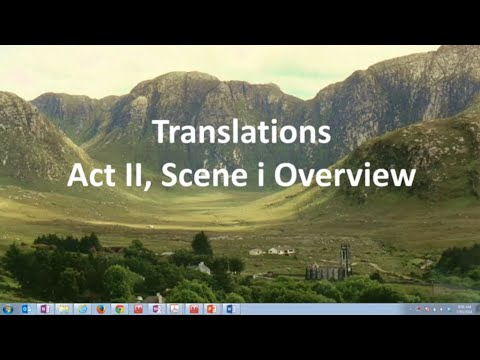 an analysis of translations a three act play by brian friel