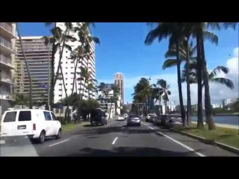 США(часть.121)Driving Waikiki - Aloha Stadium. Honolulu. Hawaii. April 8 , 2017(music)