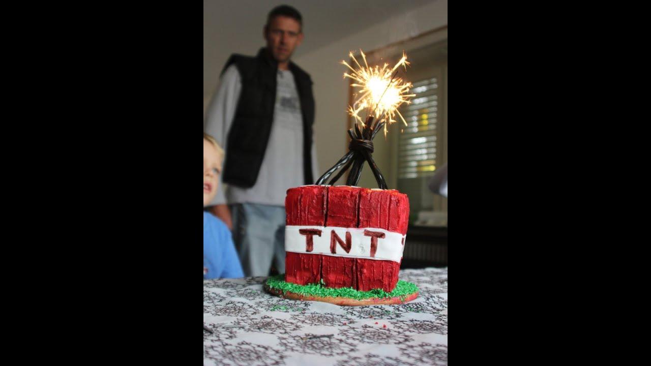 Minecraft Tnt Birthday Cake Youtube