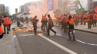 Brussels: Anti-austerity demonstration marred by violence - no comment
