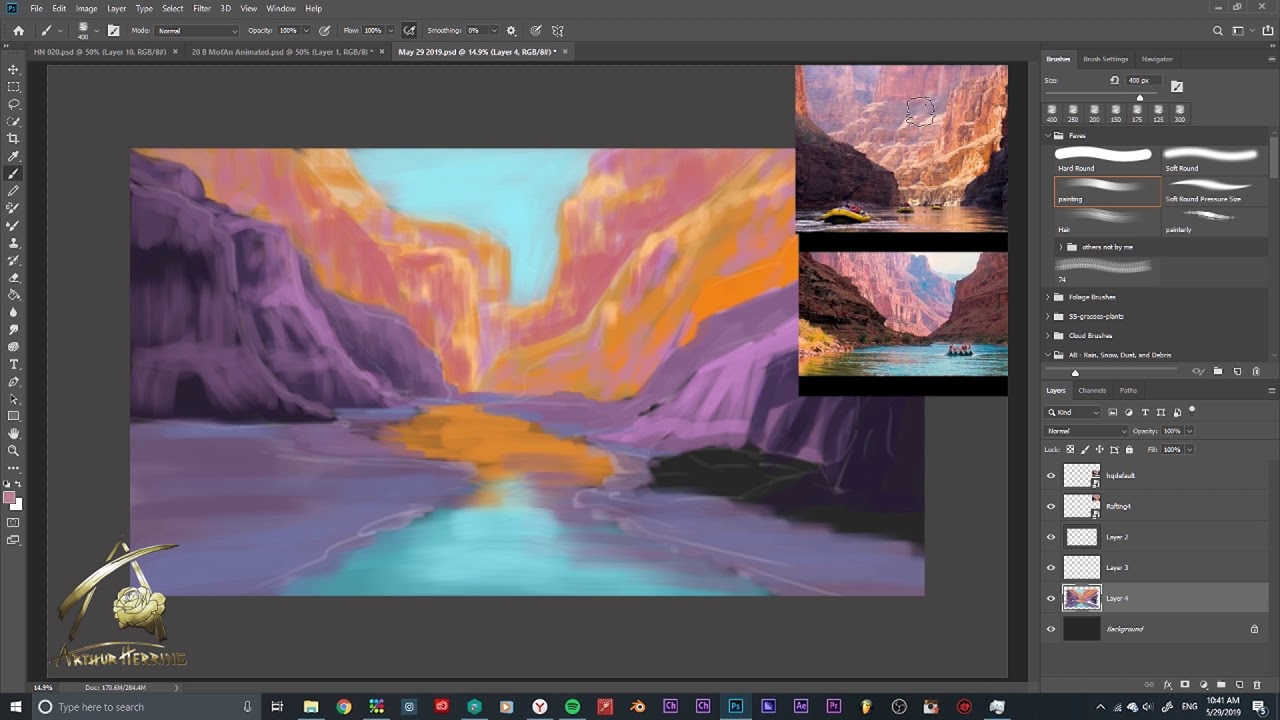 1-Hour Sketch - Canyon