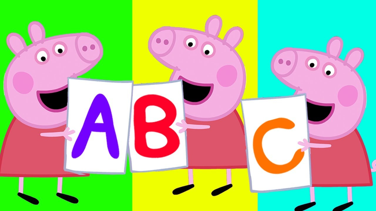 ABC Song with Peppa Pig  | Learning Alphabet for Children | Nursery Rhymes & Kids Songs