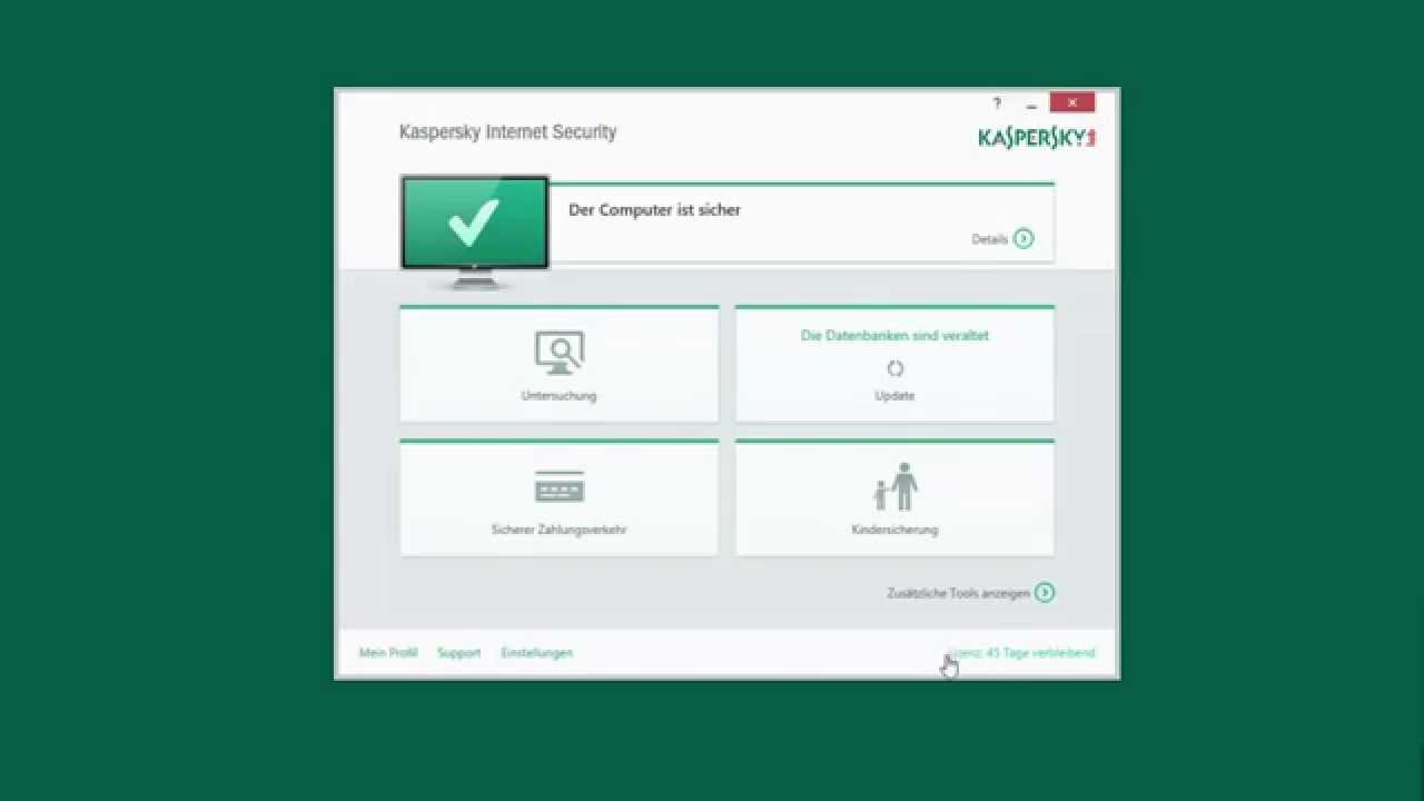 kaspersky internet security 2015 installation und. Black Bedroom Furniture Sets. Home Design Ideas