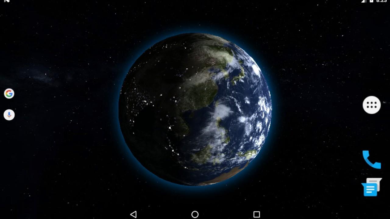 Earth 3D Live Wallpaper Tablet Preview - YouTube