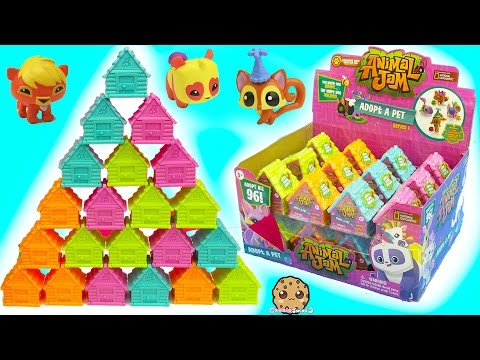 Full Box 24 Animal Jam Surprise Blind Bag Houses With