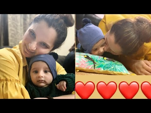 Tennis Player Sania Mirza having lovely moments with new born son Izhaan Malik Mirza