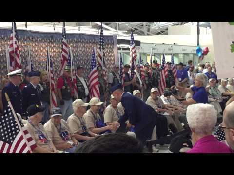 Greater St. Louis Honor Flight Return Reception For Veterans At Lambert Airport June 23 1015