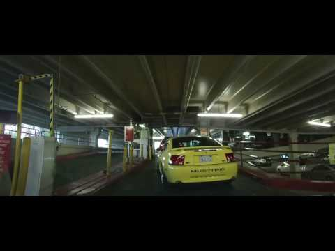 Driving into the Parking Garage at The California Hotel - Las vegas