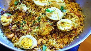 Easy Egg Biryani  In Pressure Cooker