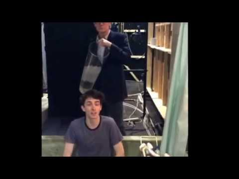 Matthew Beard hits the ALSICEBUCKETCHALLENGE in style