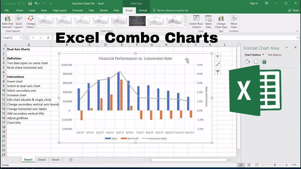 Excel combo chart how to add  secondary axis also youtube rh