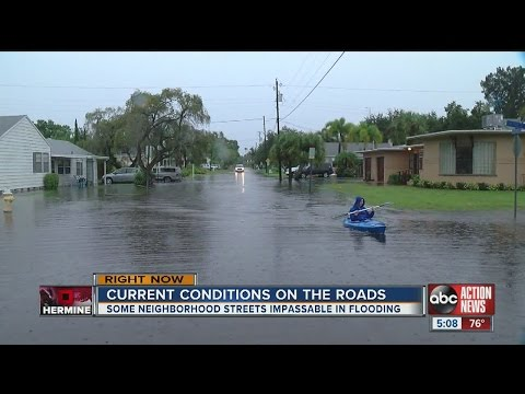 Some neighborhood streets impassable in flooding