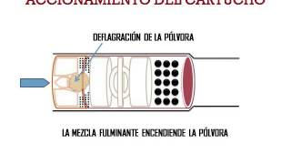 EXPLICACION DEL VIDEO DEL DISPARO DEL CARTUCHO DE ESCOPETA