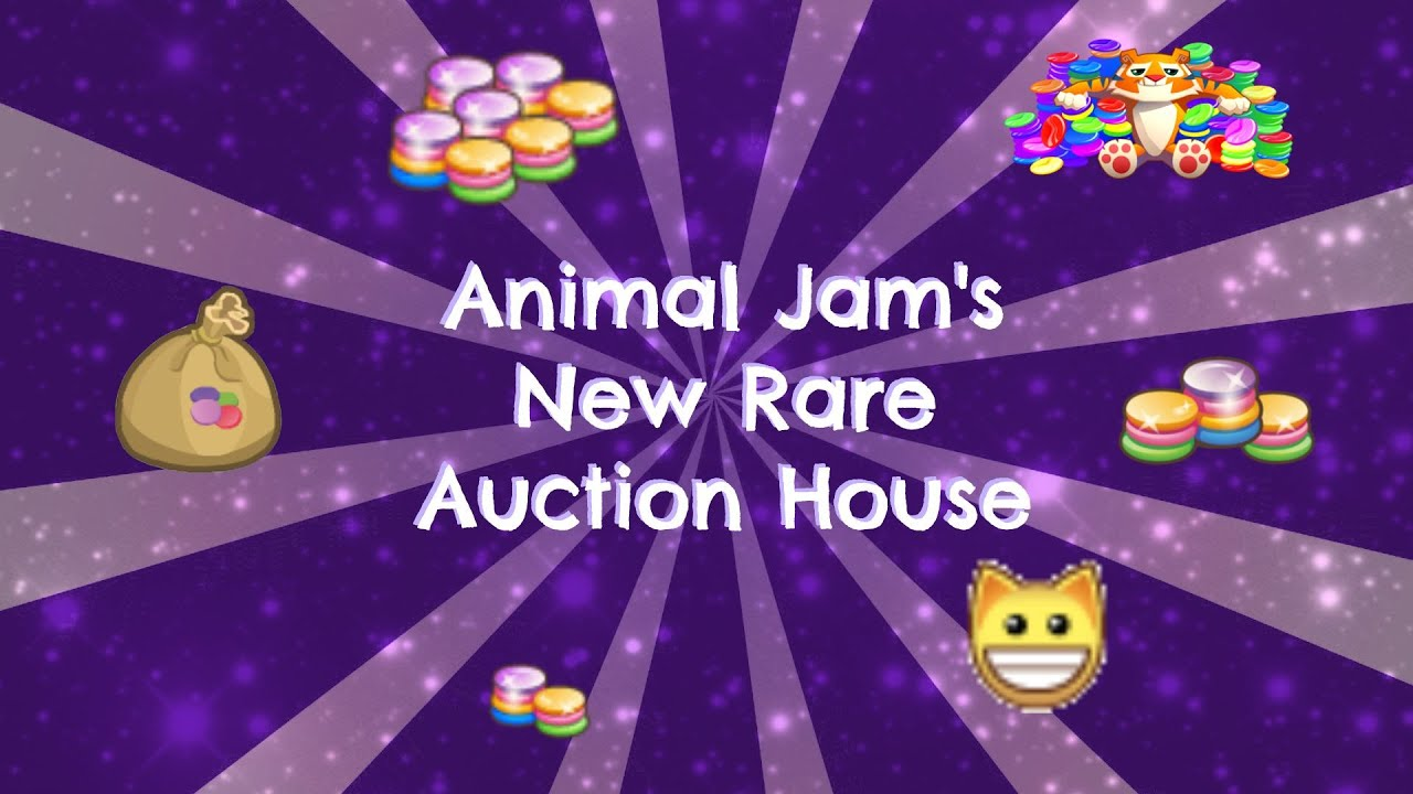 Rare Auction House And Trading Gems For Rares (Animal Jam)   YouTube Part 34