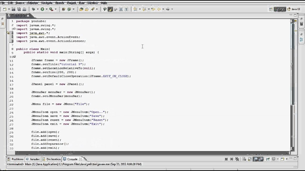 Java gui programming tutorial 11 actionlisteners hd youtube java gui programming tutorial 11 actionlisteners hd baditri Choice Image