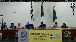 AUDIENCIA PUBLICA LEI ZONEAMENTO PLCs 32 de 2017