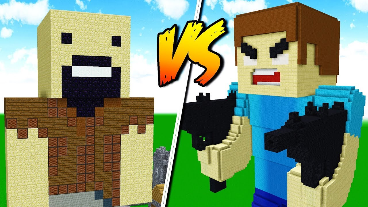 NOTCH MINECRAFT HOUSE VS. HEROBRINE HOUSE! - YouTube