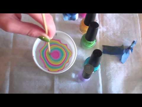 water marble manicure - rainbowithtie