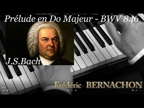 Bach - Prélude En Do Majeur - Piano - BWV 846 - Prelude C Major