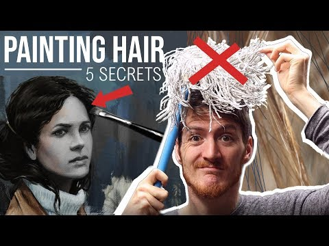 5-secrets-to-paint-hair---painting-tutorial---how-to-paint-hair
