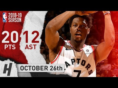 Kyle Lowry Full Highlights Raptors vs Mavericks 2018.10.26 - 20 Pts, 12 Assists!