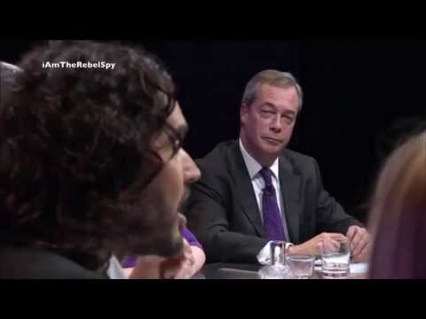Question Time: Russell Brand DESTROYS Nigel Farage on Immigration 1