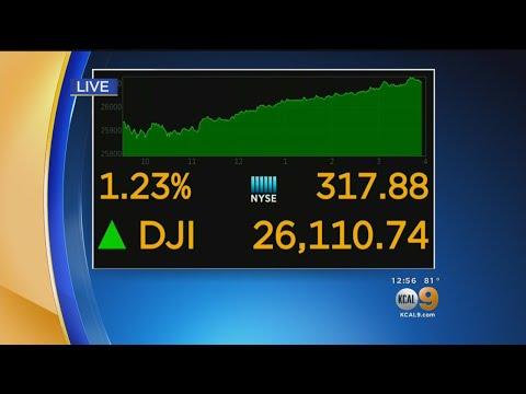 Dow Jones Closes At Record 26,000