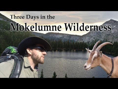 Gourmet backpacking with a goat: 3 Days in the Mokelumne Wilderness.