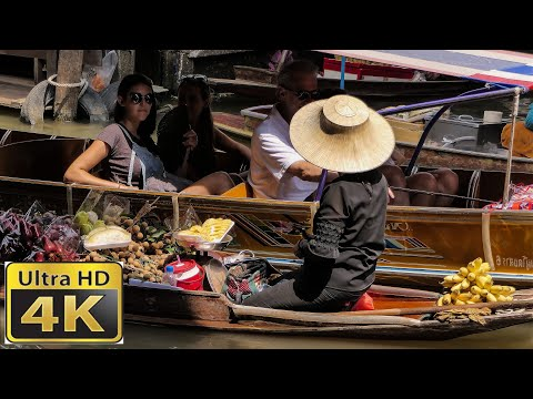 Thailand Floating Markets  Damnoen Saduak  / amazing 4k video ultra hd
