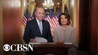 Chuck Schumer and Nancy Pelosi address government shutdown at press conference, live stream