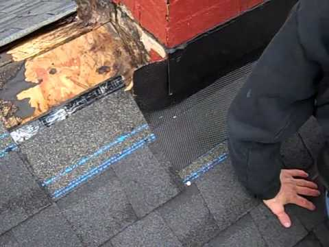 Roof Repair Involving A Chimney Re Flashing