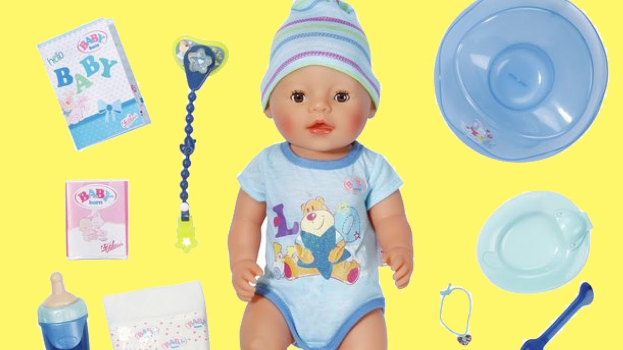 23336e9b15d Baby Born Interactive Boy Doll Unboxing Review - YouTube
