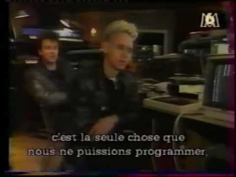 rare - the Cure and Depeche Mode = 1986 -87 interview studio France - Strangelove acoustic version
