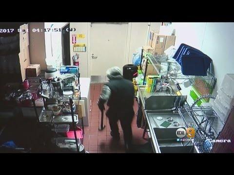 2 Burglars Break Into Valencia Yogurt Shop As Owner Watches On Security Cameras