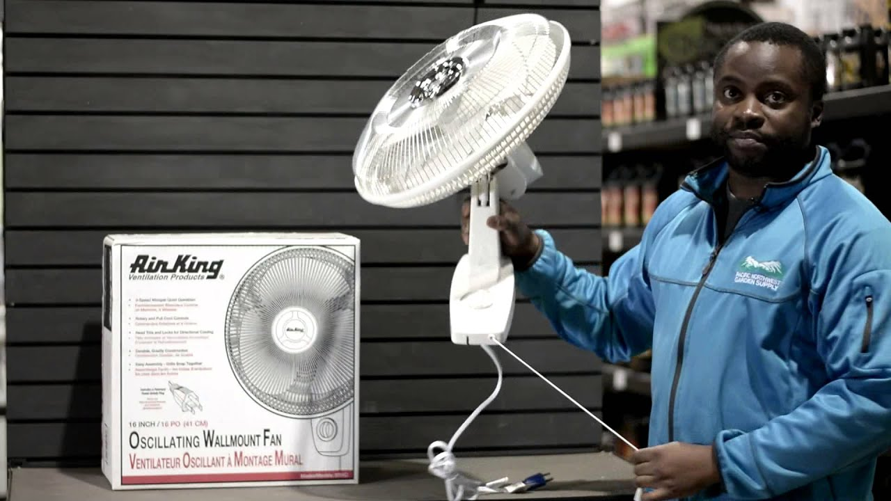 Air King Oscillating Wall Mounted Fan