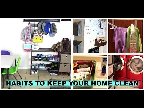 HABITS TO KEEP YOUR HOME CLEAN