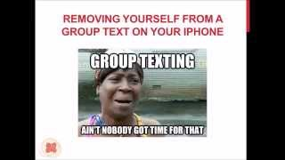 Removing Yourself Group Text Iphone