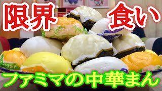 【大食い】今お得!ファミマの中華まん5種は限界何個食べる事が出来る!?