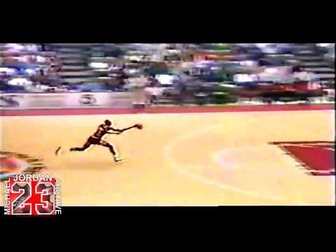 Michael Jordan - Tip-Off Kiss The Rim Dunk (1987)